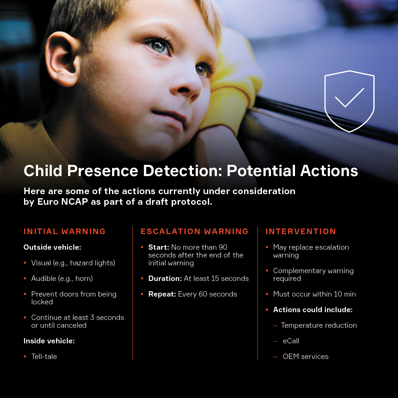 Child Presence Detection: Potential Actions